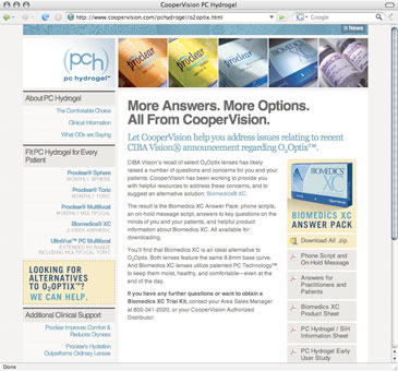 CooperVision PCH Site