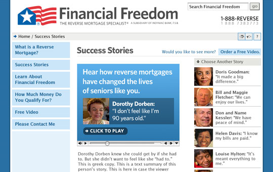 Financial Freedom Success Stories Page